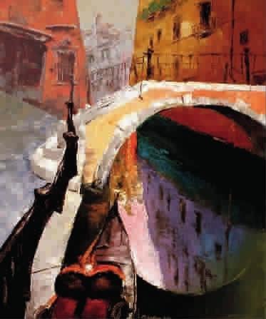 爱之城威尼斯油画 吴大刚
