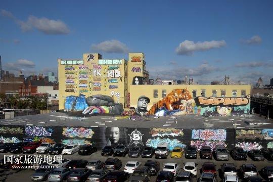 """5 Pointz""的涂鸦墙.近日,为保留一处有着20年历史的街头涂鸦图片"