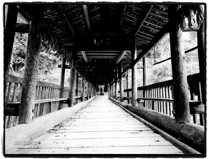 风雨桥分布寨中,错落有致,特色鲜明。 (1)