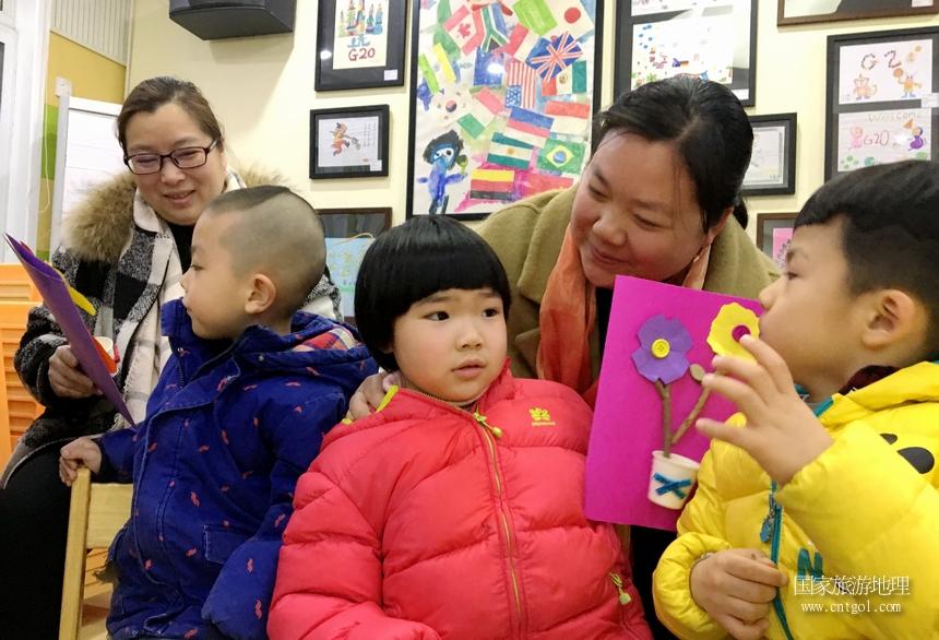 """""""我有多爱你""""杭州儿童的主题三八节活动(图)"""