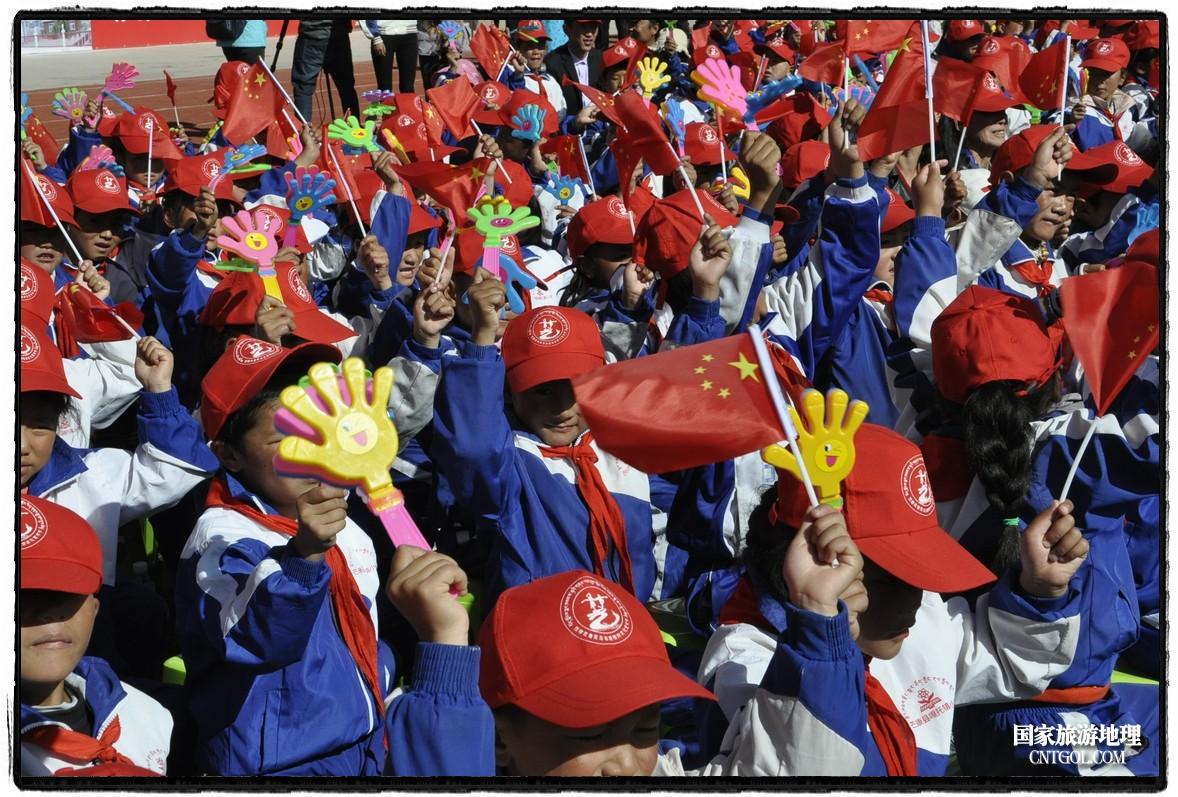 茶马古道进藏首驿——西藏芒康第六届茶马古道旅游文化艺术节开幕活动现场