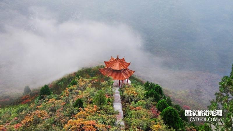在云山峰亭,如入仙境。