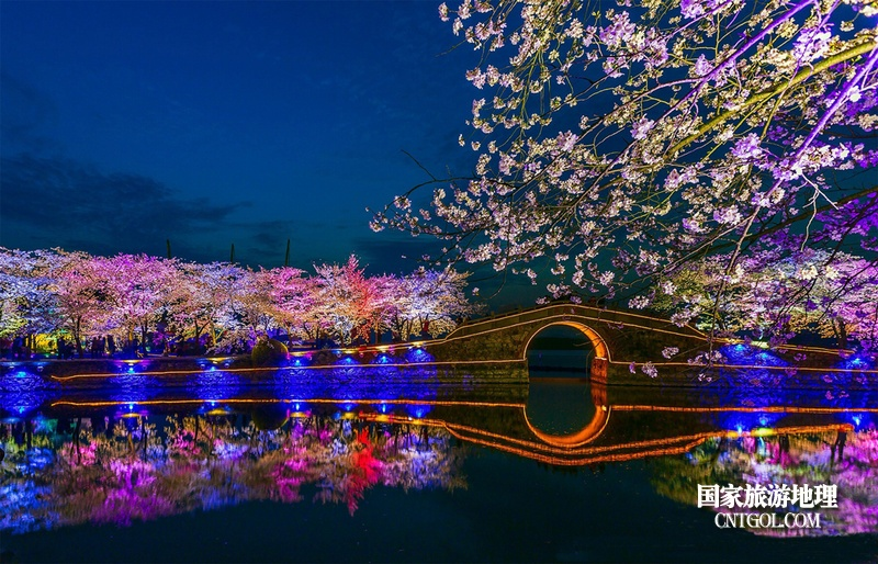 无锡太湖鼋头渚夜色美