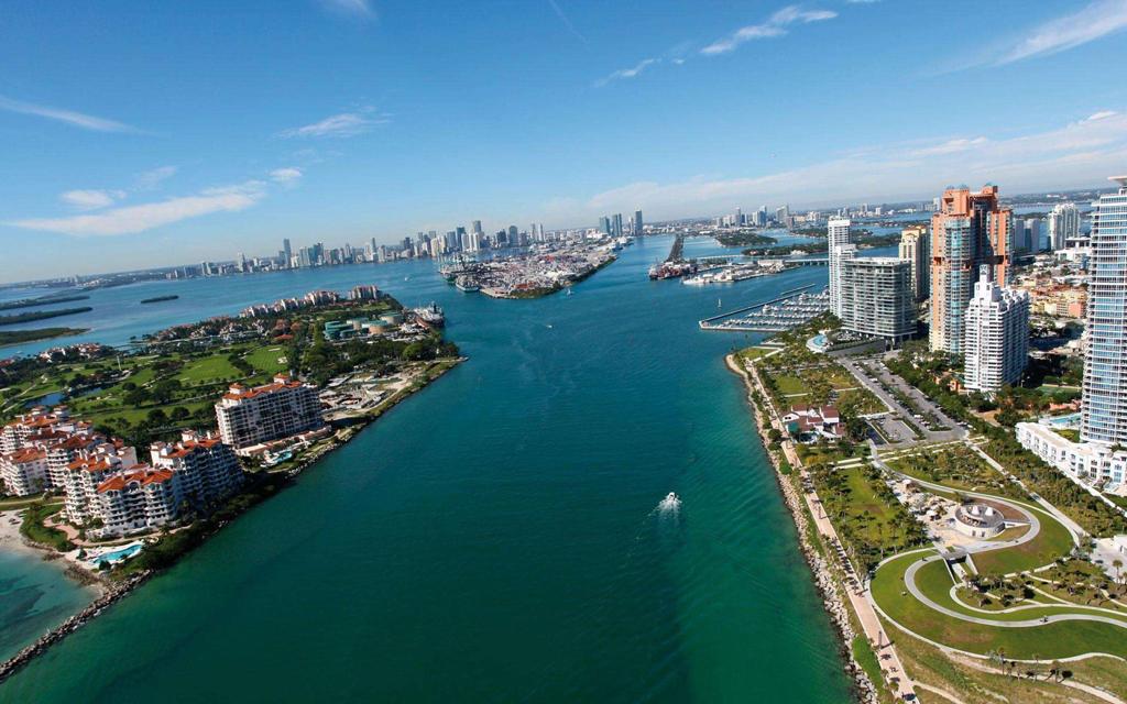 佛罗里达海滨度假天堂/佛罗里达州迈阿密鸟瞰