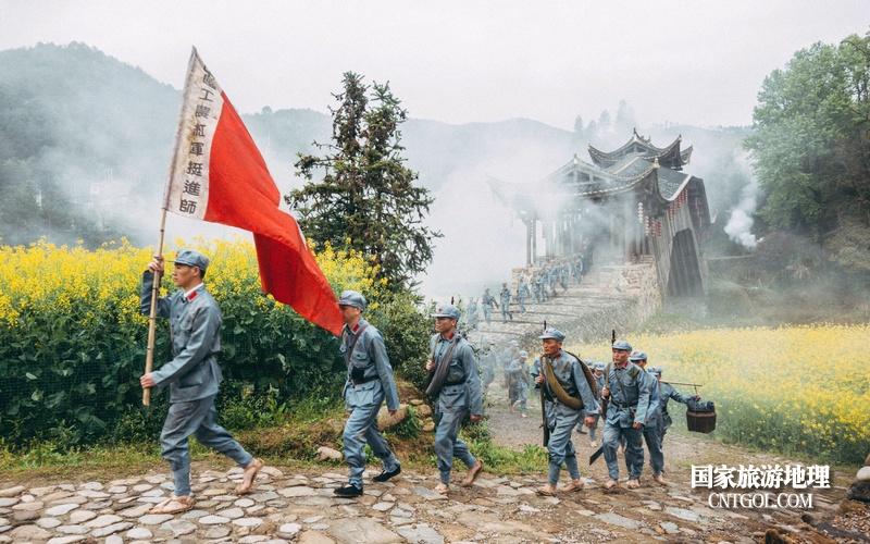 《挺进师》纪录片在温州泰顺开拍/筱村廊桥拍摄中