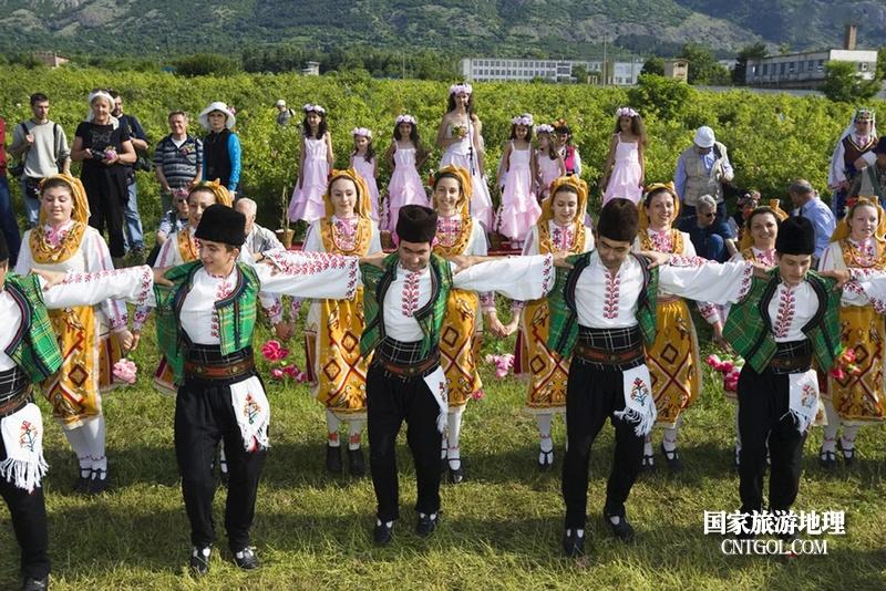 在那玫瑰花盛开地方保加利亚/保加利亚民间的霍洛舞