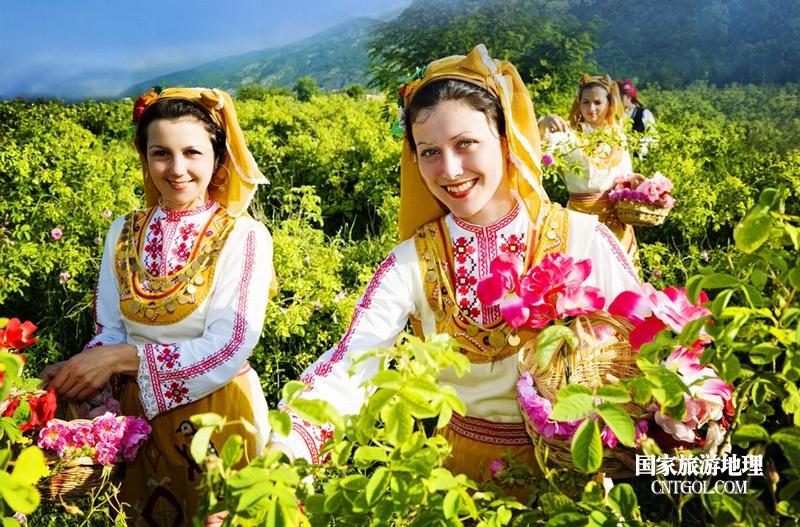 在那玫瑰花盛开地方保加利亚/美丽的保加利亚姑娘