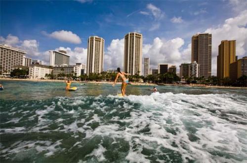 鸥湖岛环岛游 灿烂阳光中吹来夏威夷海风