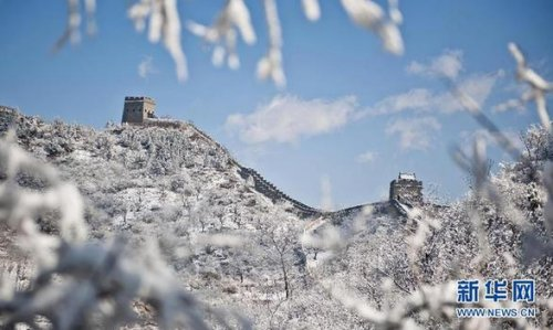 【美丽中国】雪后长城美如画