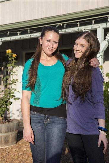 美国姐妹花比赛减肥 3年瘦成60斤