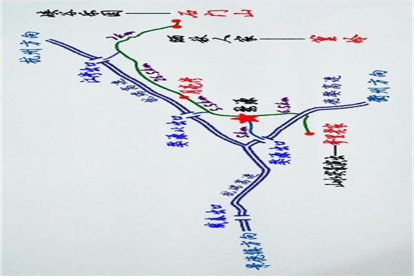 手绘旅游线路图