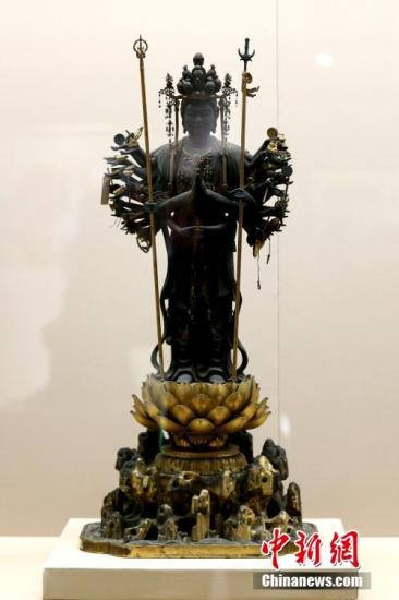 日本醍醐寺国宝展西安开幕 60件佛教艺术珍品亮相