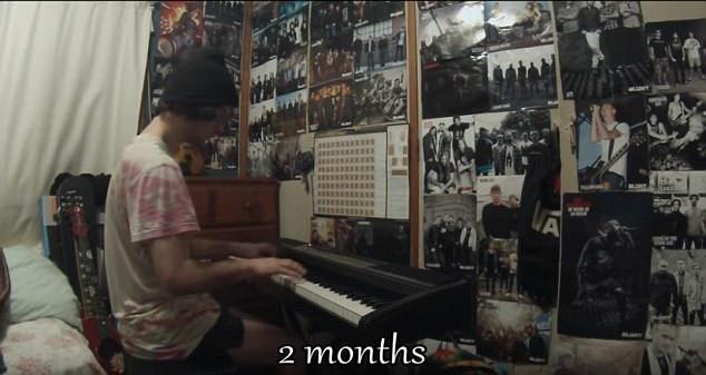澳小伙自学钢琴成才 拍摄500小时学琴过程