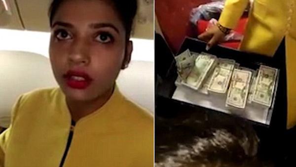 印度大胆空姐利用鞋和化妆品走私逾50万美元纸币