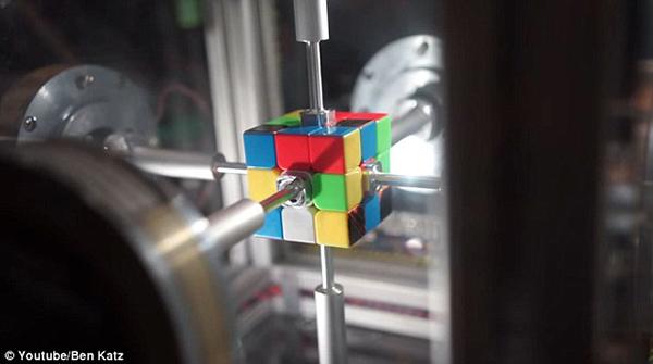 惊掉下巴!机器人高手用0.38秒复原魔方破世界纪录