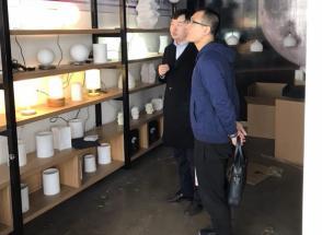 东丽区旅游局会同华明街旅游办到北京紫晶立方科技有限公司调研